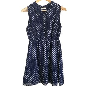 3/30$ URBAN OUTFITTERS Navy & Polka Dots Dress